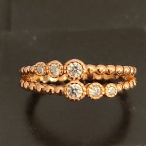Rose Gold Plated Silver Ring
